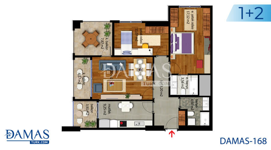 Damas Project D-168 in Istanbul - Floor plan picture  02