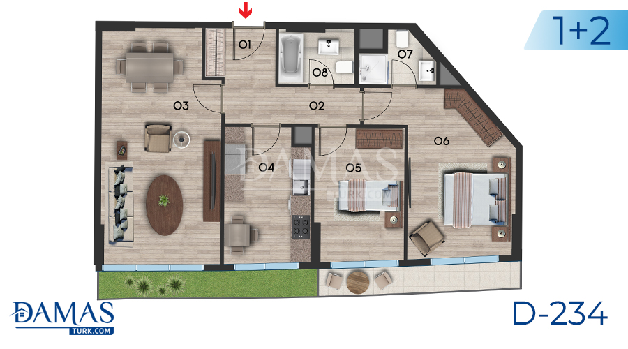Damas Project D-234 in Istanbul - Floor plan picture  02