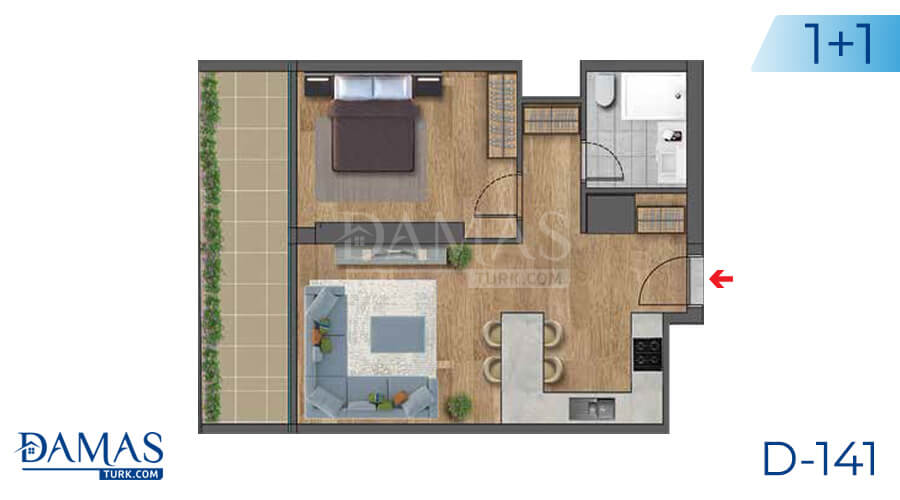 Damas Project D-141 in Istanbul - Floor plan picture 02