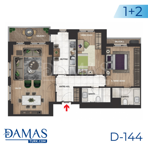 Damas Project D-144 in Istanbul - Floor plan picture 02