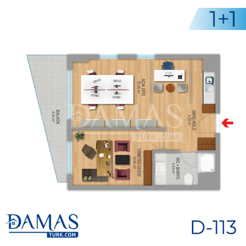 Damas Project D-112 in Istanbul - Floor plan picture 02