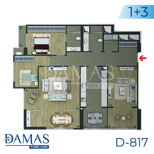 Damas Project D-817 in Istanbul - floor plan picture 02