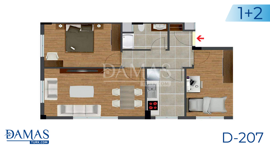 Damas Project D-207 in Istanbul - Floor plan picture  02