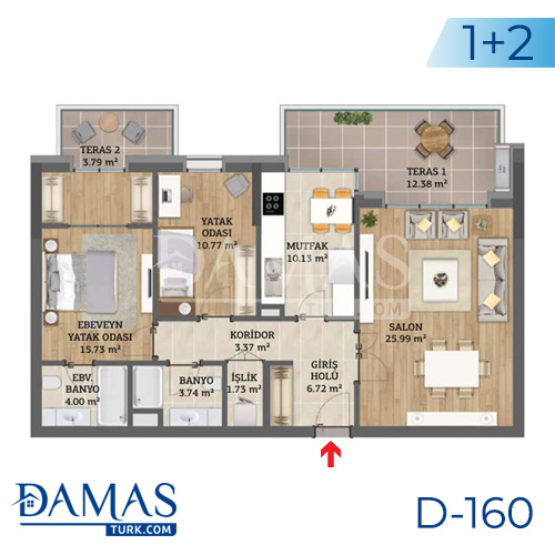 Damas Project D-160 in Istanbul - Floor plan picture 02