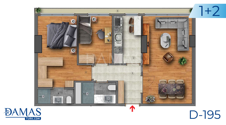 Damas Project D-195 in Istanbul - Floor plan picture  02