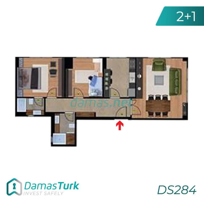 A complex of ready to move apartments and shops in Istanbul European area, Beylikdüzü DS284    damas.net 01
