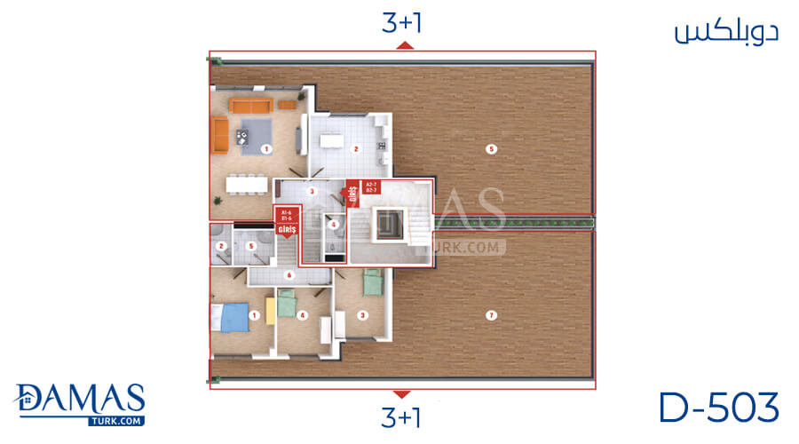 Damas Project D-503 in Kocaeli - Floor plan picture  02