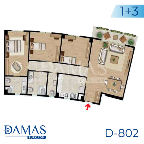 Damas Project D-802 in Istanbul - Floor plan picture 02