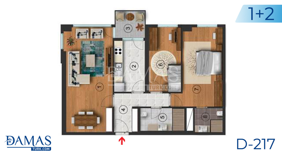 Damas Project D-217 in Istanbul - Floor plan picture  02