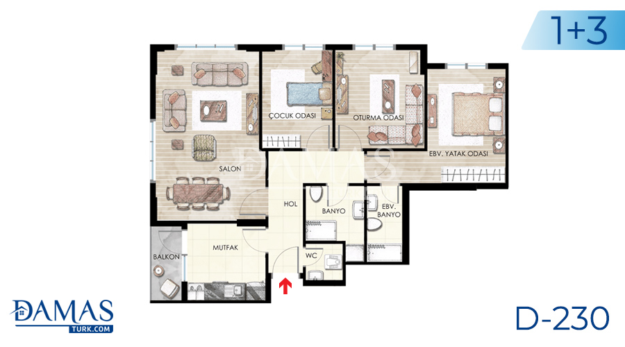 Damas Project D-230 in Istanbul - Floor plan picture  02