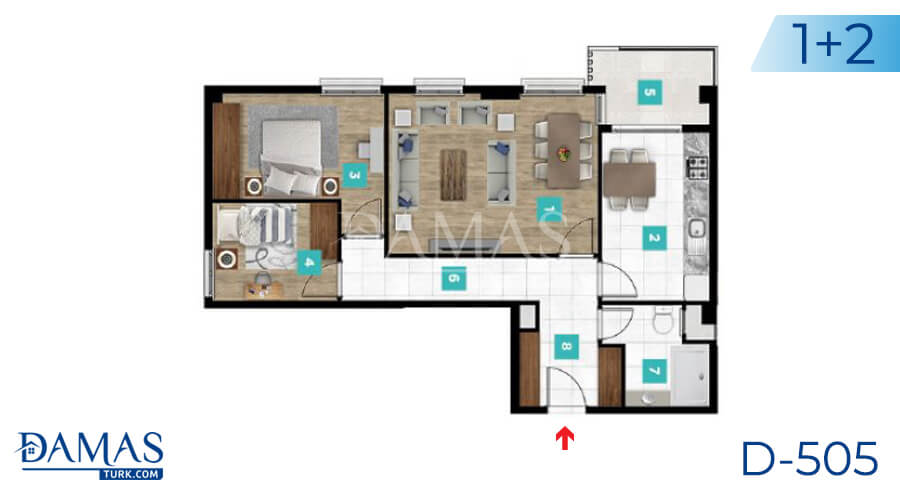 Damas Project D-505 in kocaeli - Floor plan picture  02