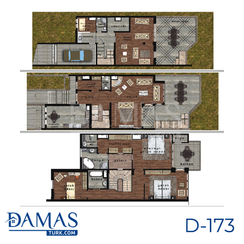 Damas Project D-173 in Istanbul - Floor plan picture  02
