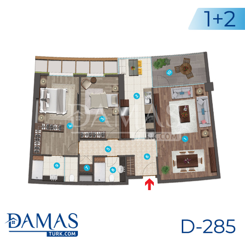 Damas Project D-285 in Istanbul - Floor plan picture 02