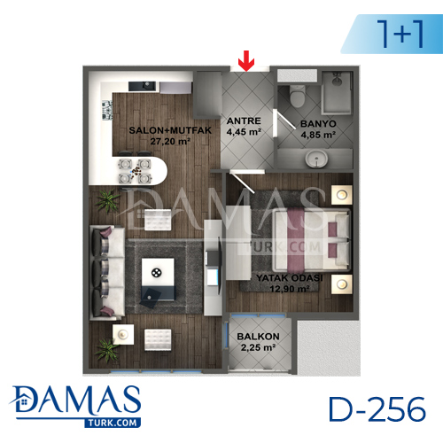 Damas Project D-256 in Istanbul - Floor plan picture 02
