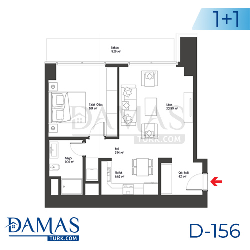 Damas Project D-156 in Istanbul - Floor plan picture 02