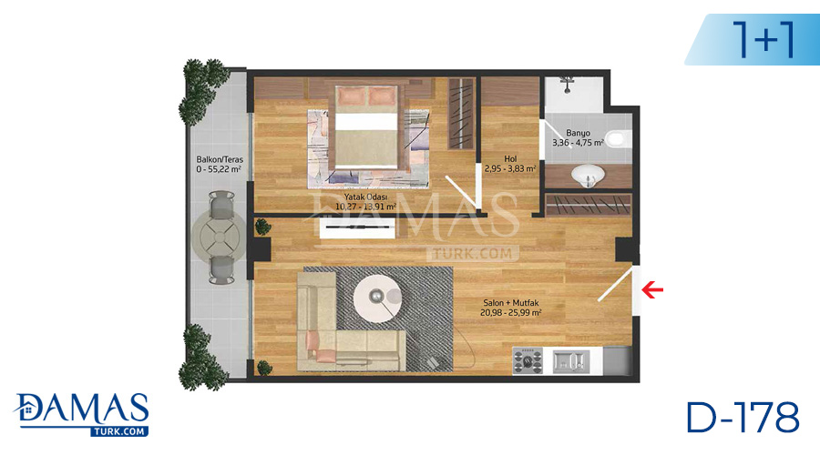Damas Project D-178 in Istanbul - Floor plan picture  02