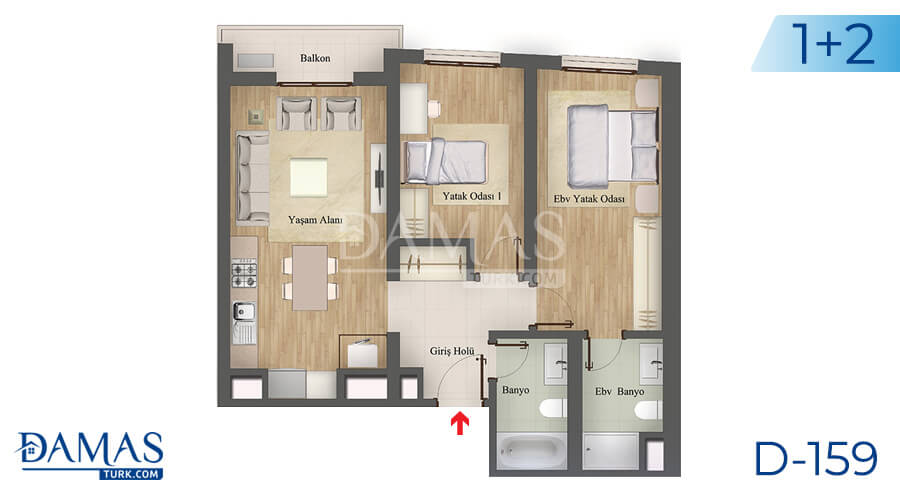 Damas Project D-159 in Istanbul - Floor plan picture 02