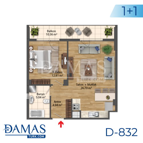 Damas Project D-832 in Istanbul - Floor Plan picture 02