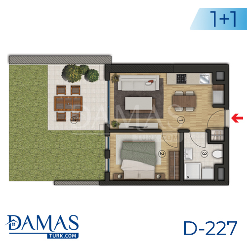 Damas Project D-227 in Istanbul - Floor plan picture  02
