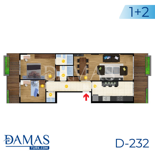 Damas Project D-232 in Istanbul - Floor Plan picture  02