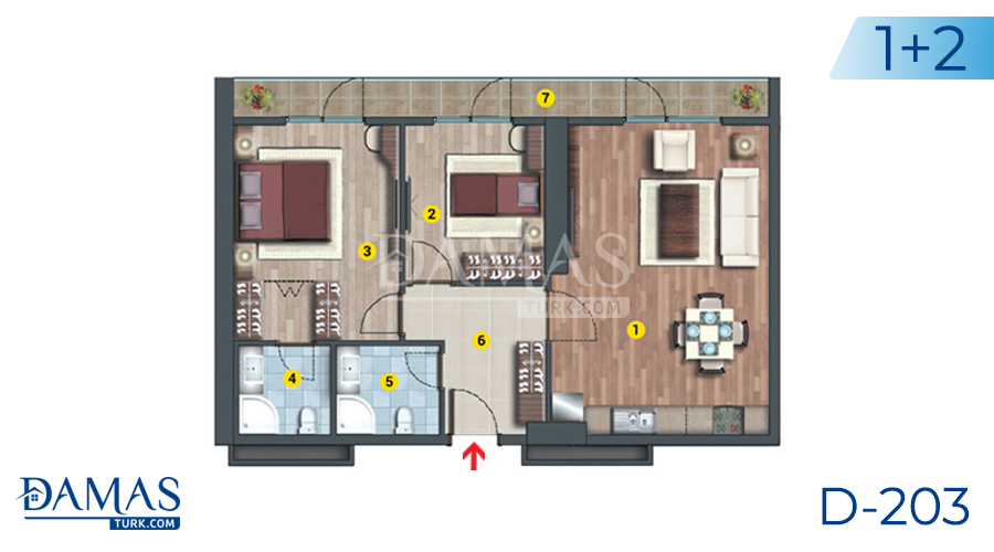 Damas Project D-203 in Istanbul - Floor plan picture  02