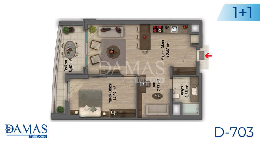 Damas Project D-703 in Ankara - Floor plan picture 02