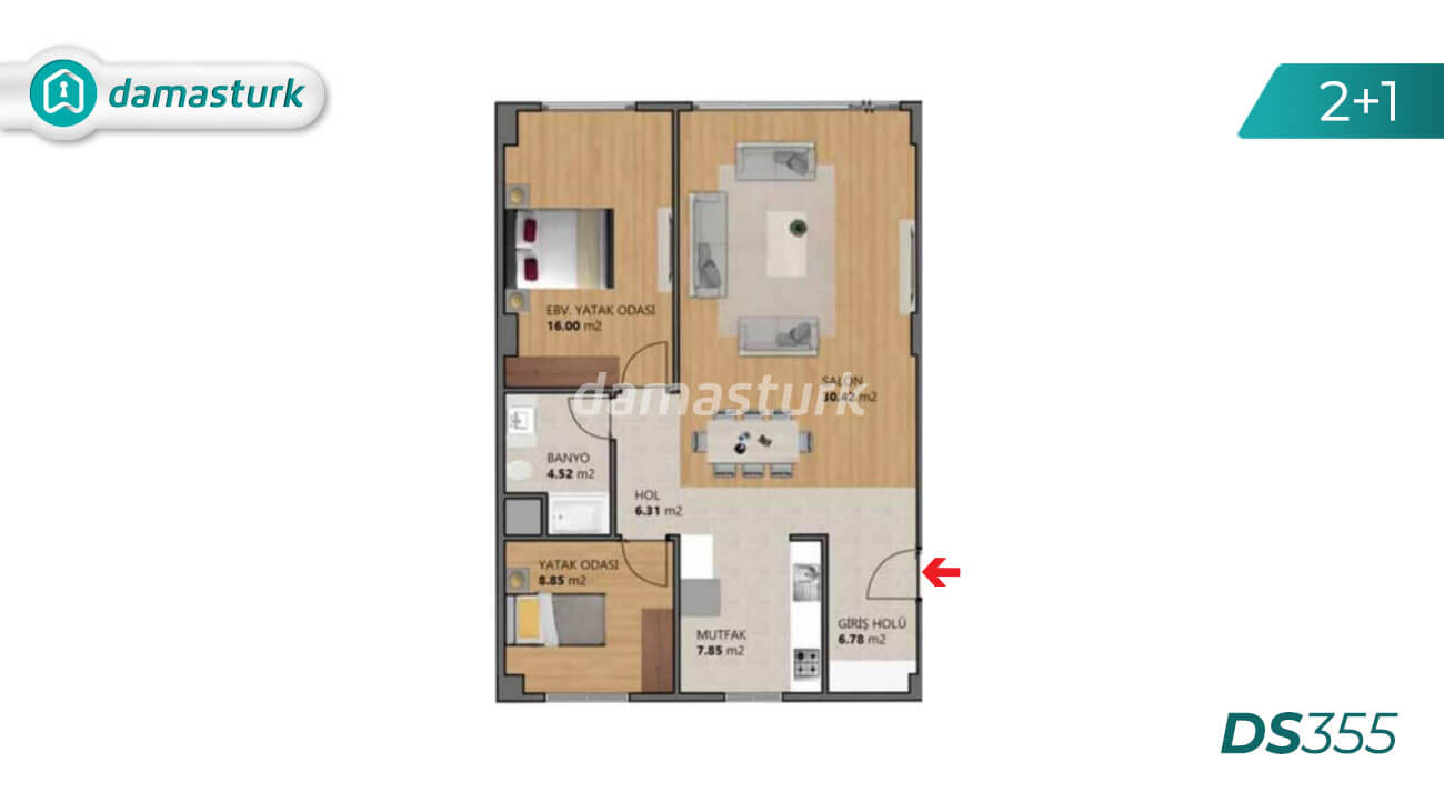 Apartments for sale in Turkey - Istanbul - the complex DS355 || damasturk Real Estate Company 02