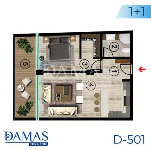 Damas Project D-501 in Kocaeli - Floor plan picture  02