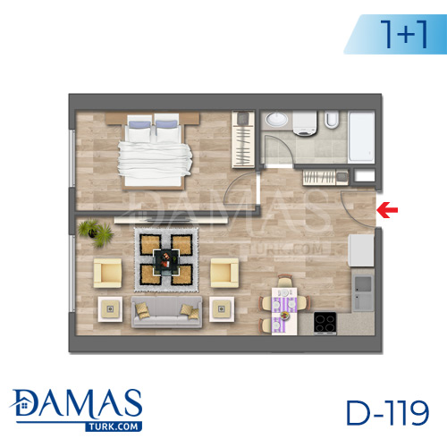 Damas Project D-119 in Istanbul - Floor plan picture 02