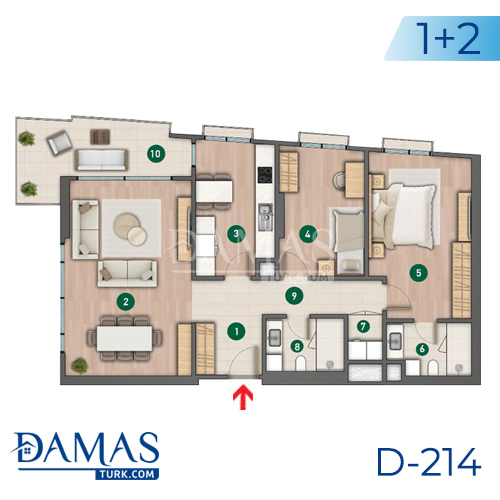 Damas Project D-214 in Istanbul - Floor plan picture  02