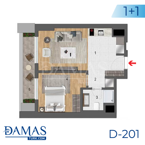 Damas Project D-201 in Istanbul - Floor plan picture  02