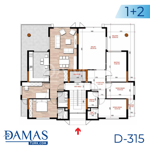 Damas Project D-315 in Bursa - Floor plan picture  02