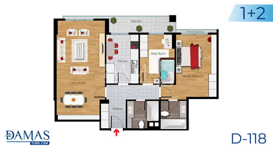 Damas Project D-118 in Istanbul - Floor plan picture 02
