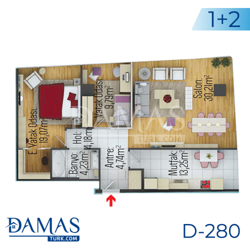 Damas Project D-280 in Istanbul - Floor plan picture 02