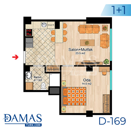 Damas Project D-169 in Istanbul -Floor plan picture  02
