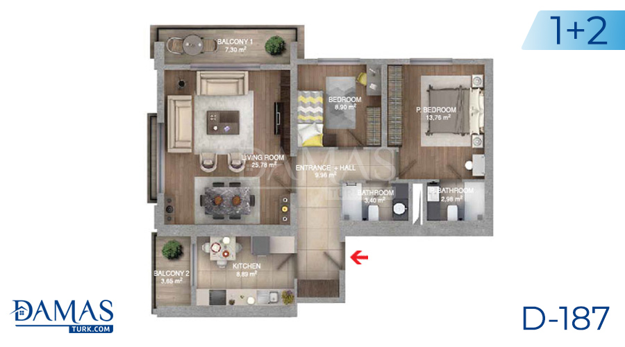 Damas Project D-187 in Istanbul - Floor plan picture  02