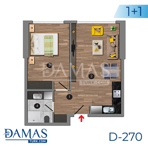 Damas Project D-270 in Istanbul - Floor plan picture 02