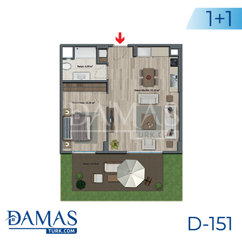 Damas Project D-151 in Istanbul - Floor plan picture 02