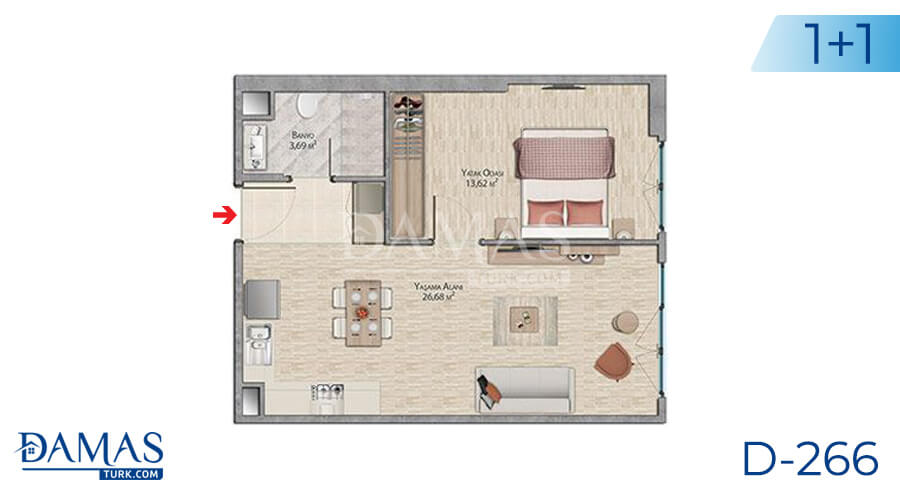 Damas Project D-266 in Istanbul - Floor plan picture 02
