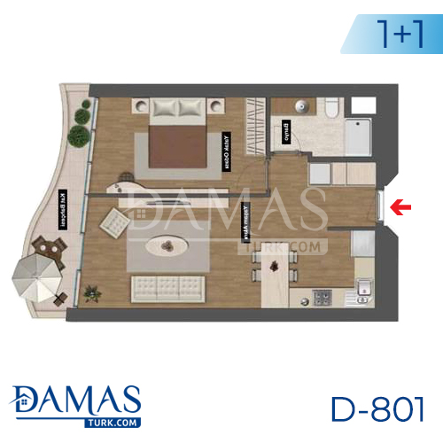 Damas Project D-801 in Istanbul - Floor plan picture 02
