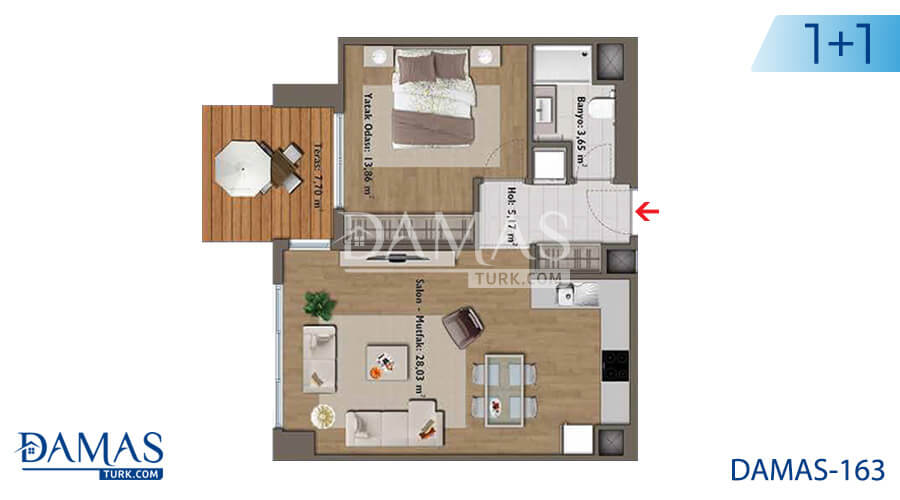 Damas Project D-163 in Istanbul - Floor plan picture 02
