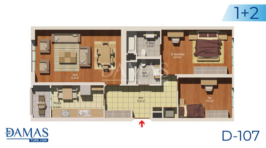 Damas Project D-107 in Istanbul - Floor plan picture 02