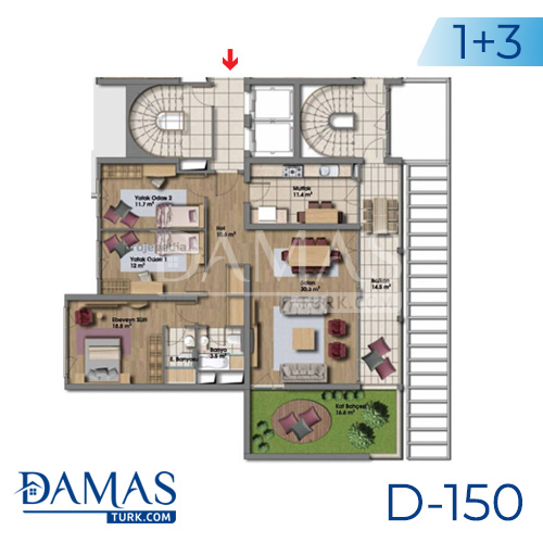 Damas Project D-150 in Istanbul - Floor plan picture 02
