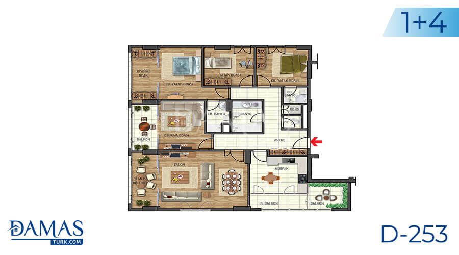 Damas Project D-253 in Istanbul - Floor plan picture 02