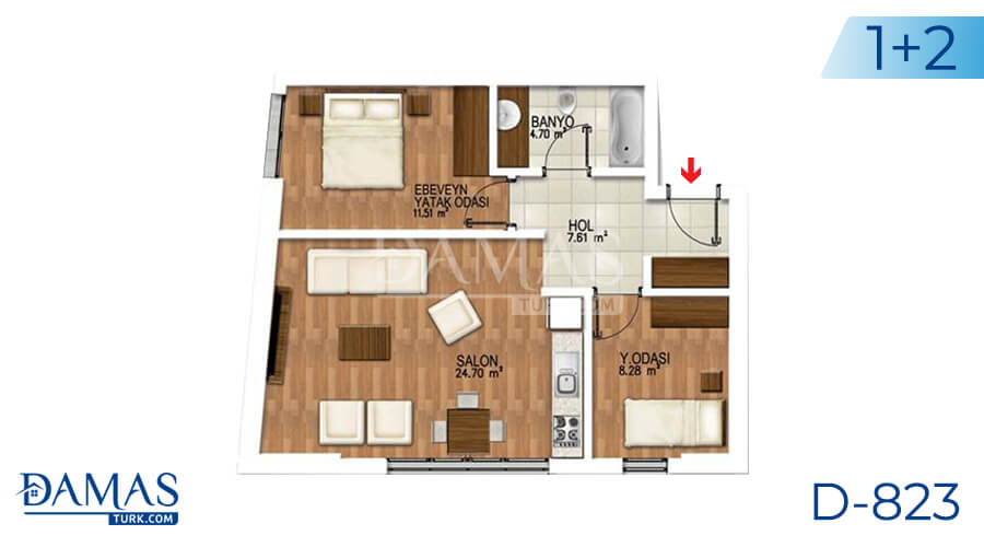 Damas Project D-823 in Istanbul - Floor plan picture 02
