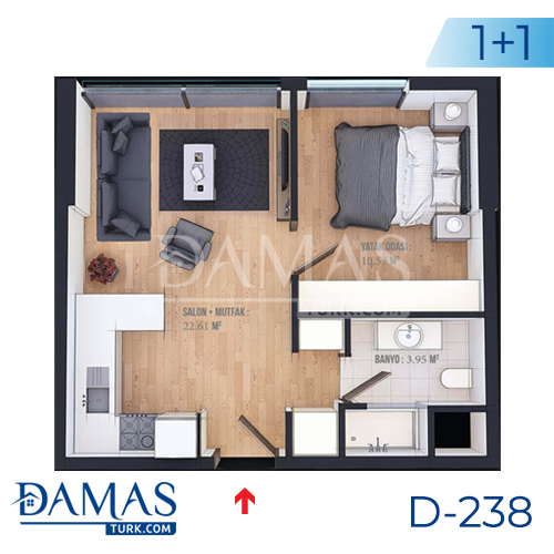 Damas Project D-238 in Istanbul - Floor plan picture  02