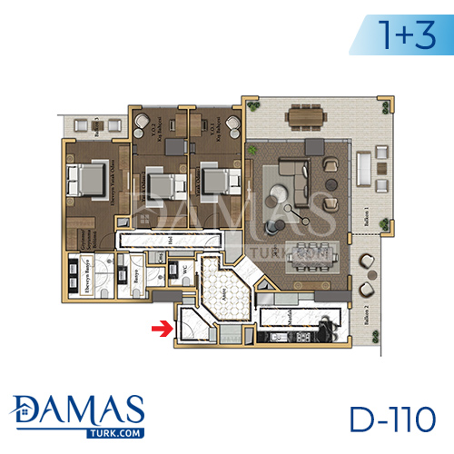 Damas Project D-110 in Istanbul - Floor plan picture 02