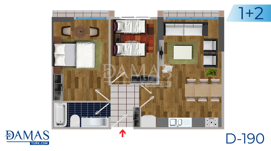Damas Project D-190 in Istanbul - Floor plan picture  02