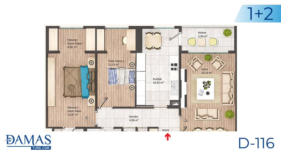 Damas Project D-116 in Istanbul - Floor plan picture 02