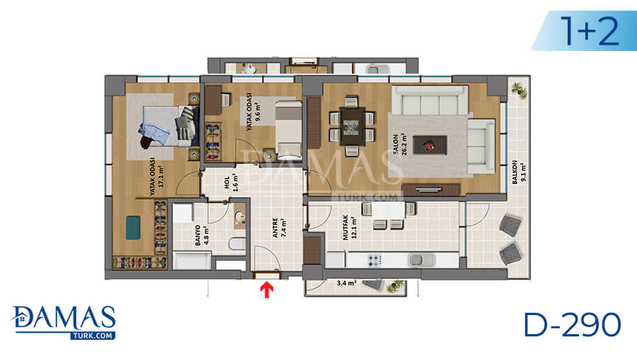 Damas Project D-290 in Istanbul - Floor plan picture 02